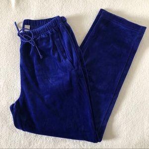 Nordstrom Blue Velvet Velour Track Sweatpants